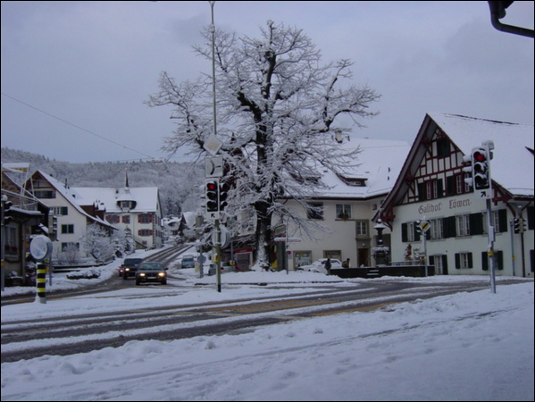 Dorfzentrum Winter